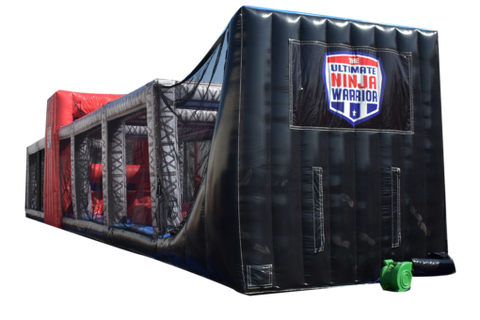 62' Inflatable Ninja Warrior Obstacle Course - Inflatable Fun Warehouse