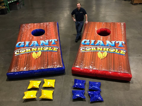 9.5' Inflatable Giant Corn Hole Or Giant Bean Bag Toss Interactive Game - Inflatable Fun Warehouse