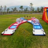 100′L Inflatable Criss Cross Collision Course Interactive Game - Inflatable Fun Warehouse