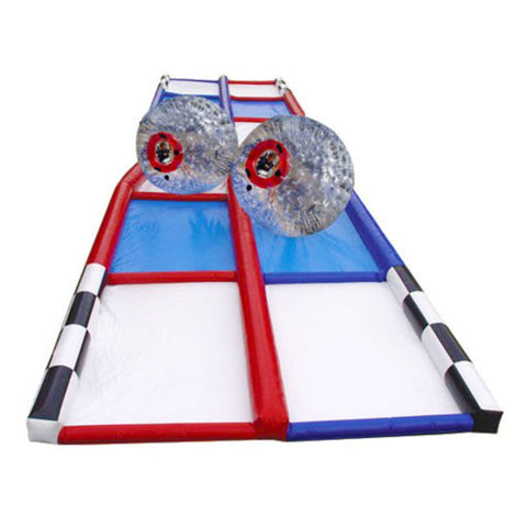 75′ Inflatable Criss Cross Collision Course Interactive Game - Inflatable Fun Warehouse