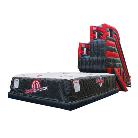 28' Inflatable FreeFall Double Jump Platform (With Airbag) Interactive Game - Inflatable Fun Warehouse