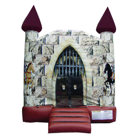14'Wx14'Lx14'L Inflatable Knight's Castle Jumper - Inflatable Fun Warehouse