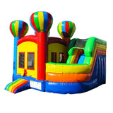 19' Inflatable Adventure Combo Twist Jumper/Slide - Inflatable Fun Warehouse