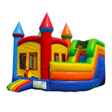 16' Inflatable Castle Combo Twist Jumper/Slide - Inflatable Fun Warehouse