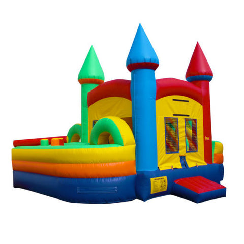 19' Inflatable Combo Slide Obstacle Twist Jumper/Slide - Inflatable Fun Warehouse