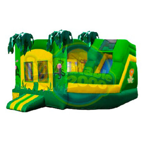 19' Inflatable Jungle Combo Twist Jumper/Slide - Inflatable Fun Warehouse