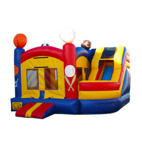 19'  Inflatable Sports Combo Twist Jumper/Slide - Inflatable Fun Warehouse