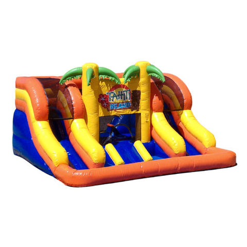 17' Inflatable Tahiti Island Water Slide - Inflatable Fun Warehouse
