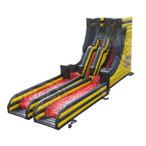 70' The Slingshot Double Lane Inflatable Slide - Inflatable Fun Warehouse