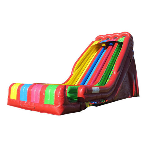 40' Inflatable Triple Lindy Slide (Dry) - Inflatable Fun Warehouse
