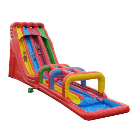 72' Inflatable Triple Lindy with Surf N Slide - Inflatable Fun Warehouse