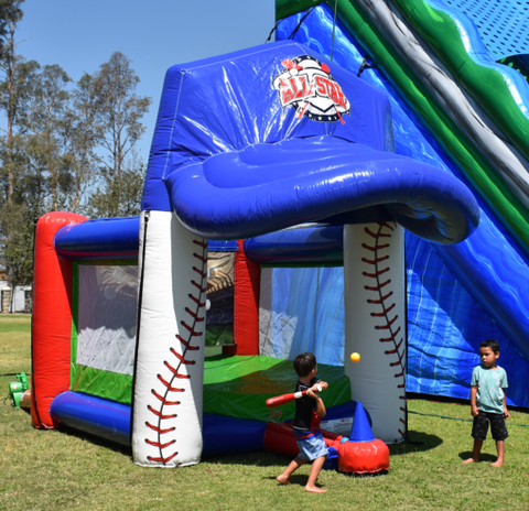 15' Inflatable All Star Slam Baseball Interactive Game - Inflatable Fun Warehouse