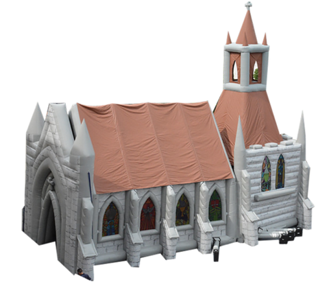 46'Lx40'Hx25'W Inflatable Church - Inflatable Fun Warehouse