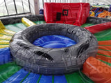 30' Inflatable Hippo Chow Down Interactive Game - Inflatable Fun Warehouse