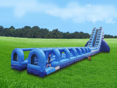 140' Inflatable Mega Double Tube Slide - Inflatable Fun Warehouse
