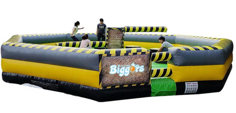 30' Diameter 8 Person Inflatable Meltdown Wipe Out Game. - Inflatable Fun Warehouse