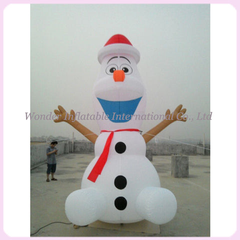 15' Inflatable Christmas Olaf - Inflatable Fun Warehouse