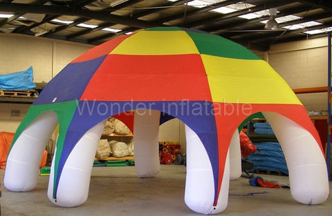 26' Diameter Inflatable Rainbow Colored Tent - Inflatable Fun Warehouse