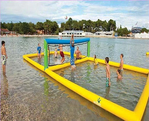40'L Inflatable Water Volleyball Court - Inflatable Fun Warehouse