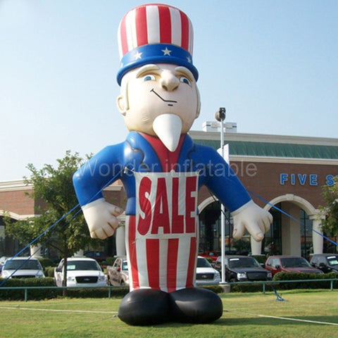 20' Giant Inflatable Uncle Sam - Inflatable Fun Warehouse