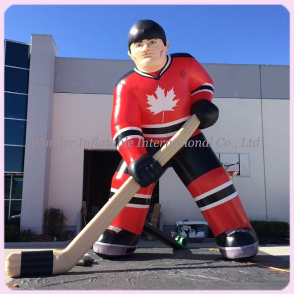20'H Inflatable Hockey Player - Inflatable Fun Warehouse