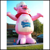 16' Inflatable Pink Pig - Inflatable Fun Warehouse