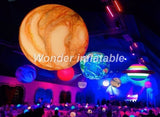 6' Inflatable Planets Earth, Moon, Jupiter, Saturn, Uranus, Neptune, Mercury, Venus Or Pluto With LED Lights - Inflatable Fun Warehouse