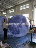 6' Inflatable Planets Earth, Moon, Jupiter, Saturn, Uranus, Neptune, Mercury, Venus With LED Lights - Inflatable Fun Warehouse