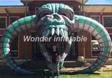 10'Wx10'H Inflatable Skull - Inflatable Fun Warehouse