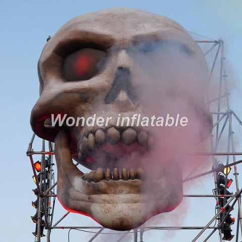 13'H Inflatable Skull - Inflatable Fun Warehouse