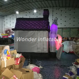 10'Hx10'L Inflatable Halloween Haunted House With LED Lights - Inflatable Fun Warehouse