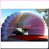 33'Wx26'Dx20'H Inflatable Colorful Clam Shell Dome Stage Cover - Inflatable Fun Warehouse