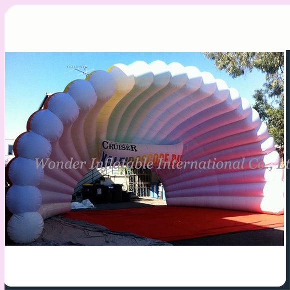 33'Wx26'Dx20'H Inflatable Scallop Shell Stage Cover - Inflatable Fun Warehouse