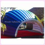 33' Inflatable Colorful Clam Shell Dome Stage Cover - Inflatable Fun Warehouse