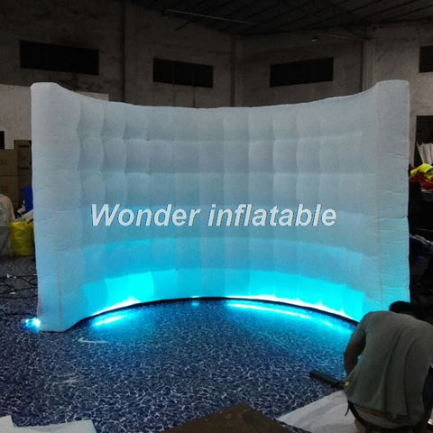 10'Lx6.5'H Inflatable Portable Wall With LED Lights - Inflatable Fun Warehouse