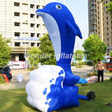 15'H Inflatable Dolphin - Inflatable Fun Warehouse
