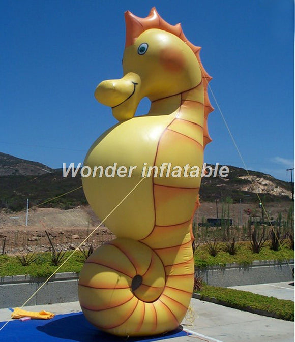 13'H Inflatable Sea Horse - Inflatable Fun Warehouse