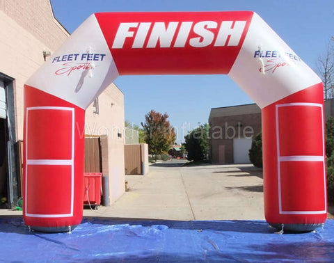 26' Inflatable Finish Line with Custom Logo - Inflatable Fun Warehouse