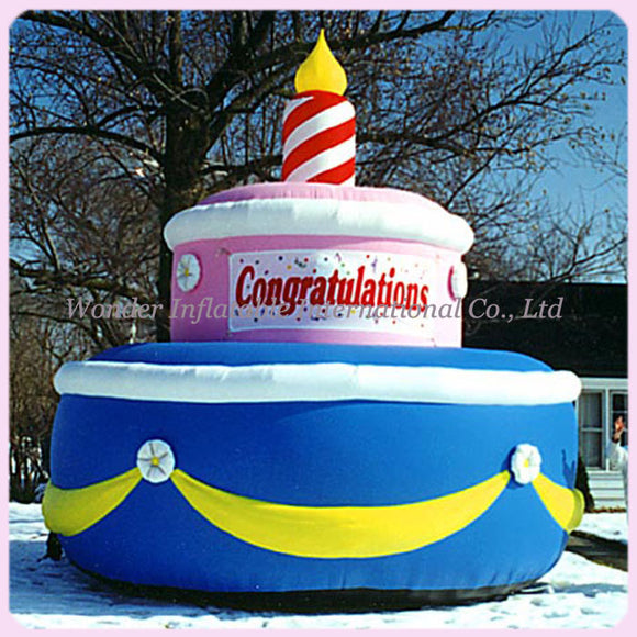 Inflatable Birthday Cake With Candles (Free Shipping) - Inflatable Fun Warehouse