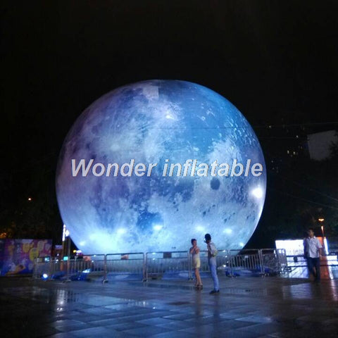 20' Inflatable Moon With LED Lights - Inflatable Fun Warehouse