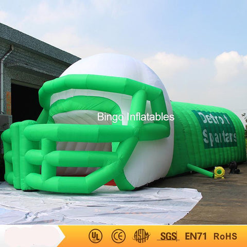 40' Inflatable Football Helmet Tunnel - Inflatable Fun Warehouse