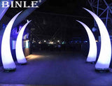 8' Inflatable Curved LED Pillars (Pair) - Inflatable Fun Warehouse