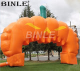 26'x16' Inflatable Halloween Pumpkin Arch - Inflatable Fun Warehouse