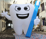 10' Inflatable Tooth With Toothbrush - Inflatable Fun Warehouse