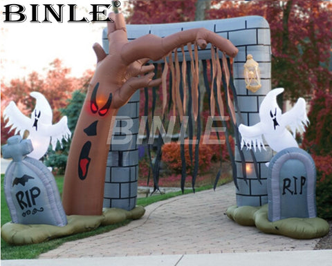 13'H  Inflatable Cemetery Arch - Inflatable Fun Warehouse