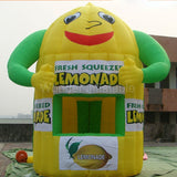10'Hx8'W  Inflatable Lemonade Booth/Stand - Inflatable Fun Warehouse