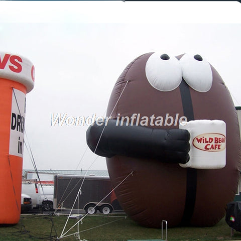 Inflatable Coffee Bean For Advertising - Inflatable Fun Warehouse