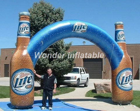 20',26' Or 32' Wide Inflatable Bottle Advertising/Race Arch - Inflatable Fun Warehouse