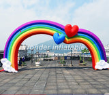 20',26 Or 32' Wide Inflatable Rainbow Advertising/Race Arch - Inflatable Fun Warehouse