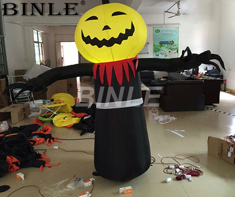 Inflatable Pumpkin Ghost With LED Lights - Inflatable Fun Warehouse
